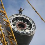 monteur op rotor in lucht juli 2015