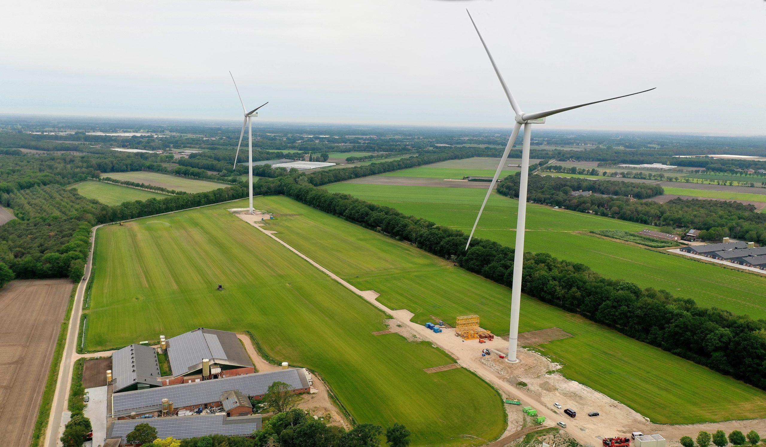 Hoe draaien de turbines in Heibloem ?