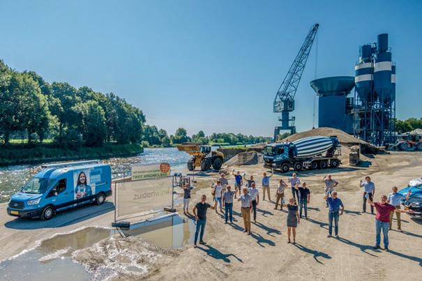 Bouw Windpark Ospeldijk begonnen